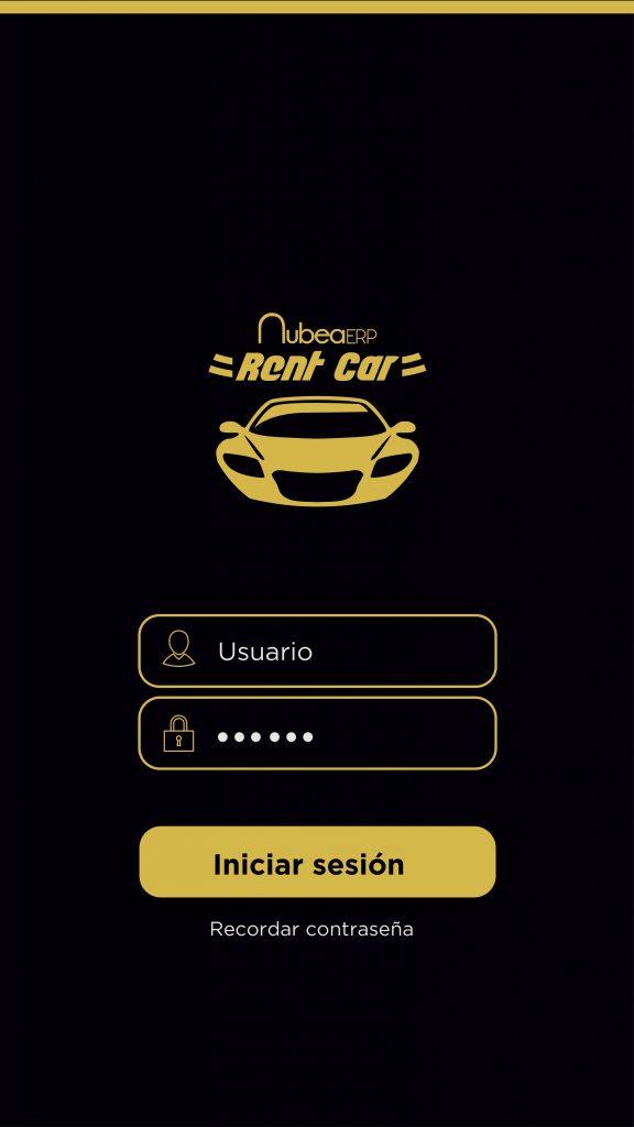 Aplicación móvil de diagram software para empresas de alquiler de coches