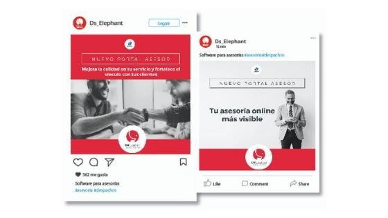 marketing digital para asesorías - social media portal asesor